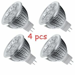 4Qty Dimmable LED MR16 Light Bulb, 45° Spotlight for Recessed, Track, 12V MY