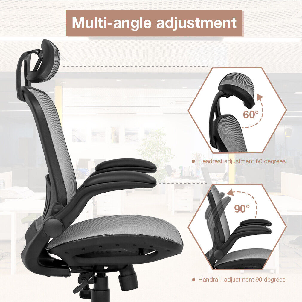 Office Chair Ergonomic Desk Chair Mesh Computer Chair with Lumbar Support Business & Industrial