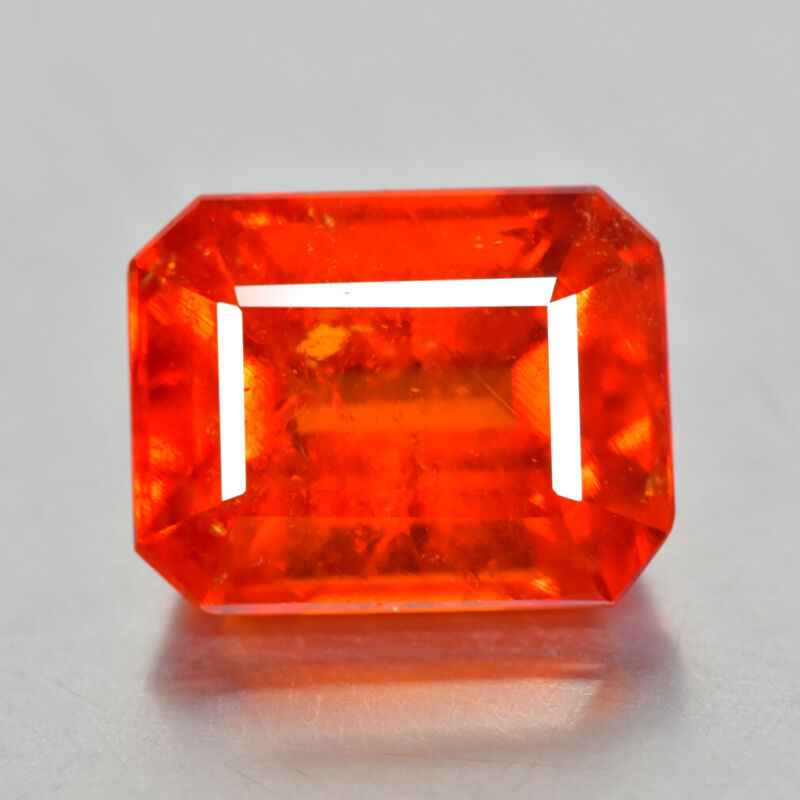 9.10Ct Emerald Cut, Lovely Quality Unheated Fanta Orange Spessartite Garnet