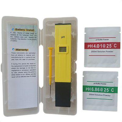 Digital PH Wert Wasser Messgerät Messer Tester Meter Aquarium Pool Prüfer 0-14 D