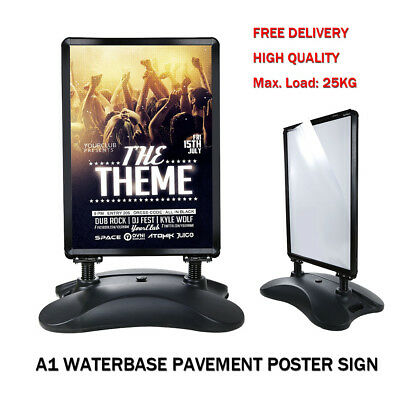 A1 WATERBASE PAVEMENT POSTER SIGN A-BOARD HOLDER-SNAP FRAME SHOP DISPLAY STAND