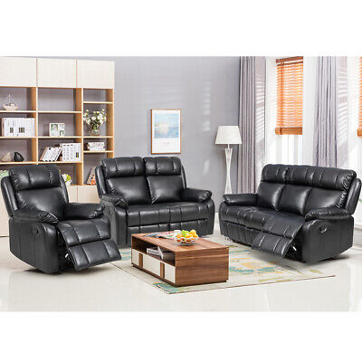 - Loveseat Chaise Reclining Couch Recliner Sofa Chair Leather Accent Chair Set SF