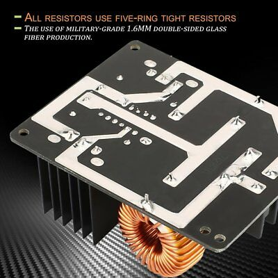 Zvs Low Voltage Induction Heating Coil Module Flyback Driver Heater 1000w 20a Rw