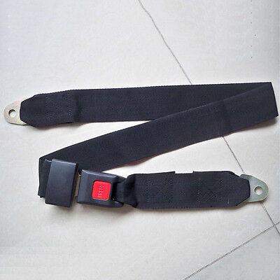 New Black Car Seat Belt Lap Belt Two Point Adjustable Safety Universal ZC