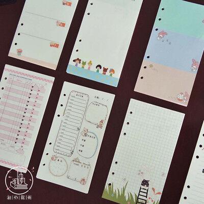 A5a6 Cartoon Colourful Planner Diary Insert Refill Notebook Schedule Organiser