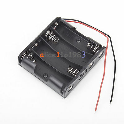 Plastic Battery Storage Case Box Holder For 4 X Aa 4xaa 2a 6.0v Wire Leads