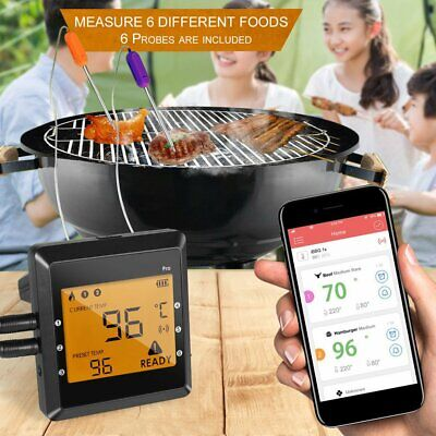 Meat Thermometer Bluetooth Digital Kitchen Grill Cooking BBQ Baking Food Probe