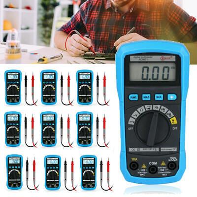 Digital Voltmeter Ammeter Ohmmeter Multimeter Volt Ac Dc Tester Meter Lot Wf