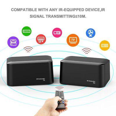 Wireless IR Remote Extender Repeater Transmitter Receiver Blaster Emitter BY