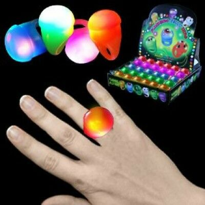 LED Light Up Flashing Blank Solid Color Soft Ball Rings Party Favors 6 12 24 - Softball Party Favors