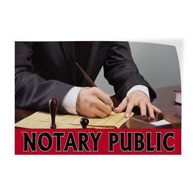 Notary Public 1 Indoor Store Sign Vinyl Decal Sticker