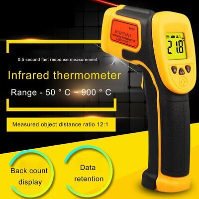 Ir Infrared Gun Thermometer Temperature Thermal Heat Digital Sensor Temp Meter