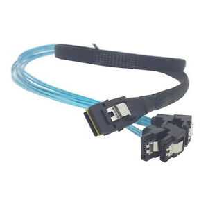 Mini SAS 4i SFF-8087 36P 36-Pin Male to 4 SATA 7-Pin Splitter Adapter Cable OK