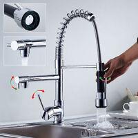 Uk Chrome Kitchen Sink Bar Faucet Dual Spouts Vessel Basin Mixers Taps - ouboni - ebay.co.uk