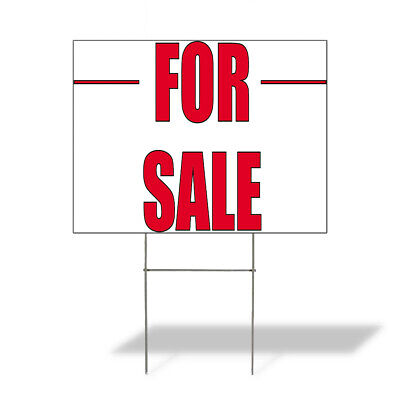 Weatherproof Yard Sign For Sale Outdoor Advertising Printing E White Lawn Garden