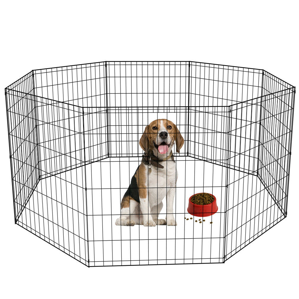 24 30 36 42 48 Tall Dog Playpen Crate Fence Pet Play Pen Exe