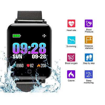 Wasserdicht Smartwatch Bluetooth Armband Sport Uhr Fernkamera/Musik Android iOS