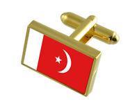 Select Gifts Sharjah Flag Cufflinks /& James Bond Money Clip