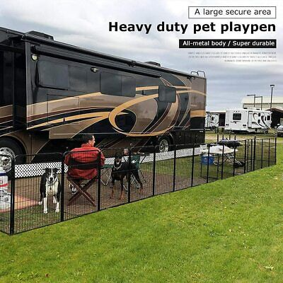 BestPet Dog Pen Extra Large Indoor Outdoor Dog Fence Playpen Heavy Duty24″ tall Dog Supplies