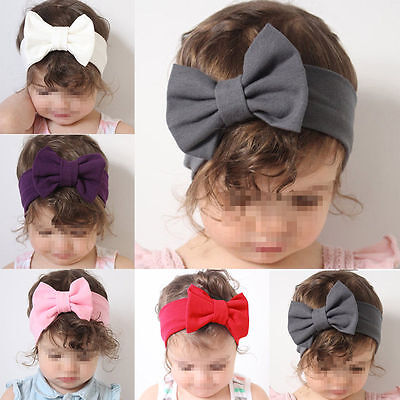 Toddler Girls Kids Baby  Bow Hairband Headband Stretch Turban Knot Head Wrap ()