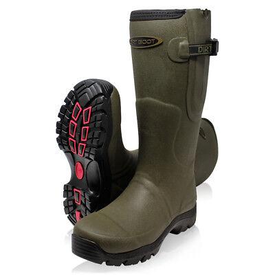 Dirt Boot Neoprene Fleece Lined Wellington Muck Wellies Thermal Winter Boots (Welly Fleece)