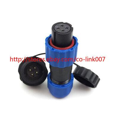 Sd13 4pin Waterproof Connectorip68 Solar Panel Power Adapter Bulkhead Led Plug