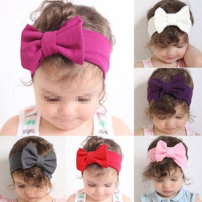 Baby Mädchen Neugeborenes Baumwolle Schleife Stirnbänder Haarband