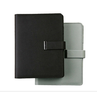 A5 Business Loose Leaf Planner Schedule Notebook Ruled Diary Pu Leather Buckleb