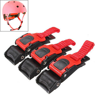 3x Motorcycle Bike Helmet Chin Strap Speed Sewing Clip Quick Release Buckle