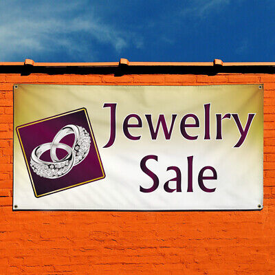 Vinyl Banner Sign Jewelry Sale 1 Style D Marketing Advertising Lavender