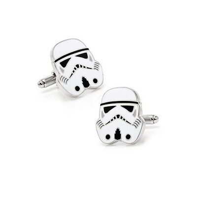 Stylish Men's Women's Star Wars Strom Trooper Cufflinks for Wedding Party