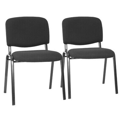 Office Guest Chairs Set of 2 Reception Chairs Conference Chairs with Lumbar Chairs