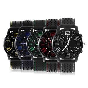 Black-Fashion-Stainless-Steel-Luxury-Sports-Analog-Quartz-Wrist-Watch-Fast-BY