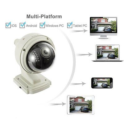 HD 720P IP Kamera PTZ Funk WLAN Wifi Netzwerk Nachtsicht Outdoor Camera DE