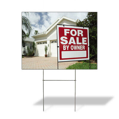 Weatherproof Yard Sign For Sale By Owner Advertising Printing A Lawn Garden