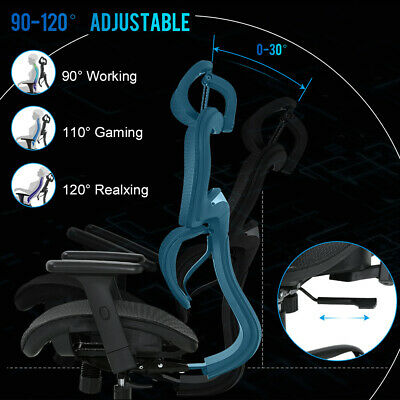 Home Office Chair Mesh Desk Chair Ergonomic Computer Chair with 3D Arms Back Lum Business & Industrial
