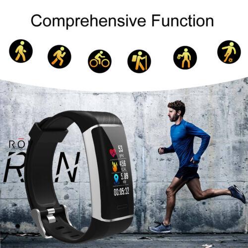 Bluetooth GPS Fitnessuhr Tracker Smart Armband Uhr Smartwatch Sportuhr Pulsuhr
