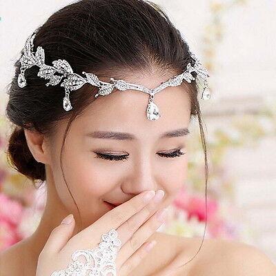 Braut Diadem Kristall Hochzeit Tiara Kopfschmuck Kopfstück Strass Krone Haarreif