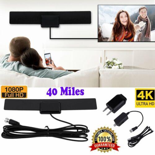 40 miles amplified indoor hdtv antenna black
