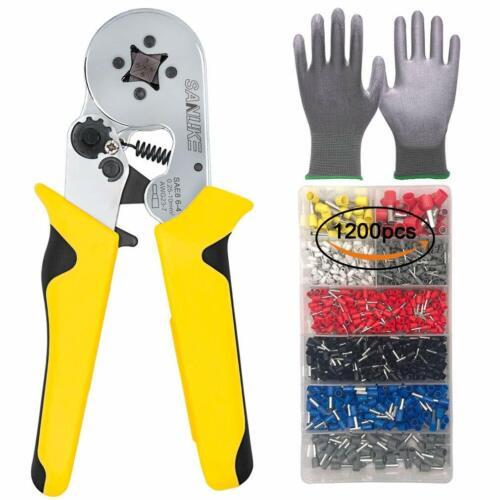 Crimper Plier Kit Self-adjustable Crimping Tools 1200 Terminal Connector Sleeves