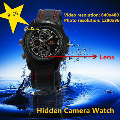 Used, 8GB Men's Waterproof Hidden Pinhole Spy Video Camera/Camcorder Sport Wrist Watch for sale  Shipping to Nigeria