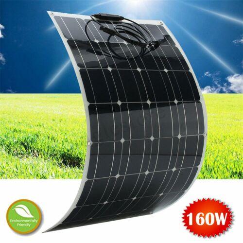 160W Flexible Monocrystalline Mono Solar Panel Off Grid Kit