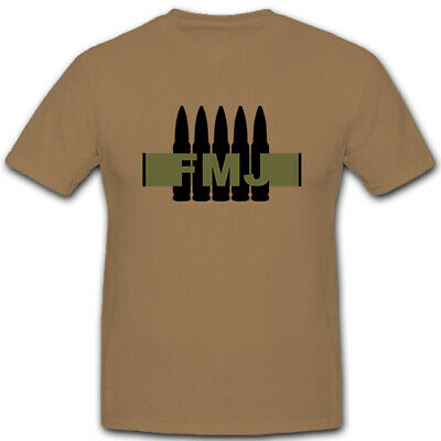 Full Metal Jacket Shirt (FMJ Full Metal Jacket Vollmantel Geschoss Kalibet 7,62 Munition - T Shirt #5165)