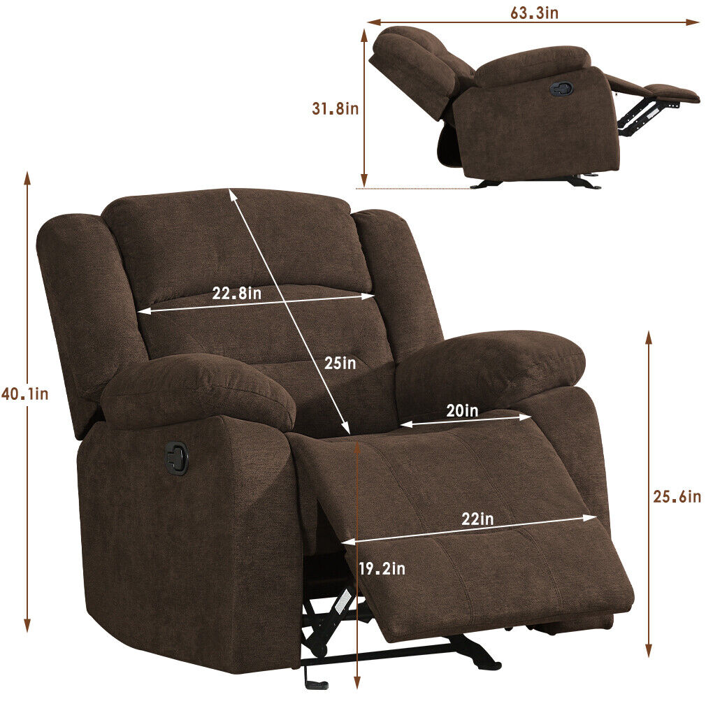Recliner Chair Reclining  Sofa for Living Room Recliner Sofa and Couch Sofa Furniture