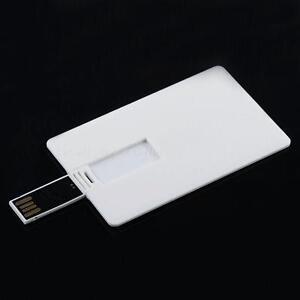 64GB Credit Card USB 2.0 Flash Drive Blank DIY Memory Stick Wholesale Bulk LSRG