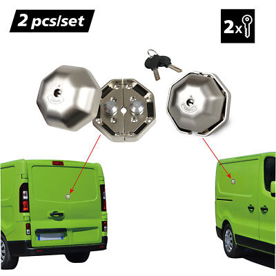 2PCS Heavy Duty Van Garage Lock Security Safety Device for Side and Rear Doors