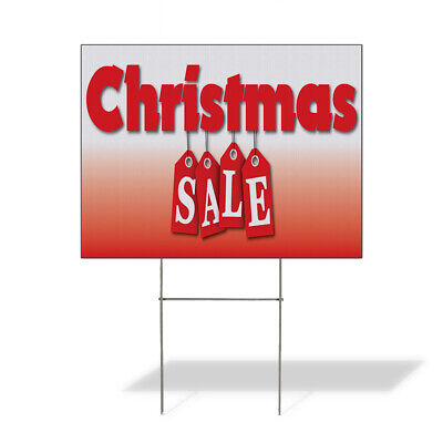 Weatherproof Yard Sign Christmas Sale Business A Red Lawn Garden