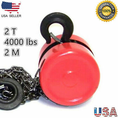 2 Ton Chain Puller Block Fall Chain Hoist Hand Tools Lifting Chain With Hook New