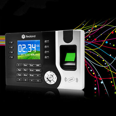 Biometric Fingerprint Attendance Time Clock Id Card Readertcp Ipusb Bt