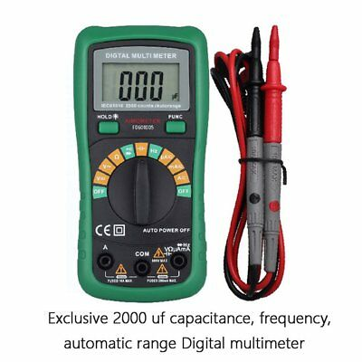 Lcd Digital Multimeter 1999 Electrical Voltmeter Acdc Ohm Volt Diode Tester 6k